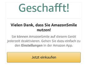 Amazon Smile App nutzen