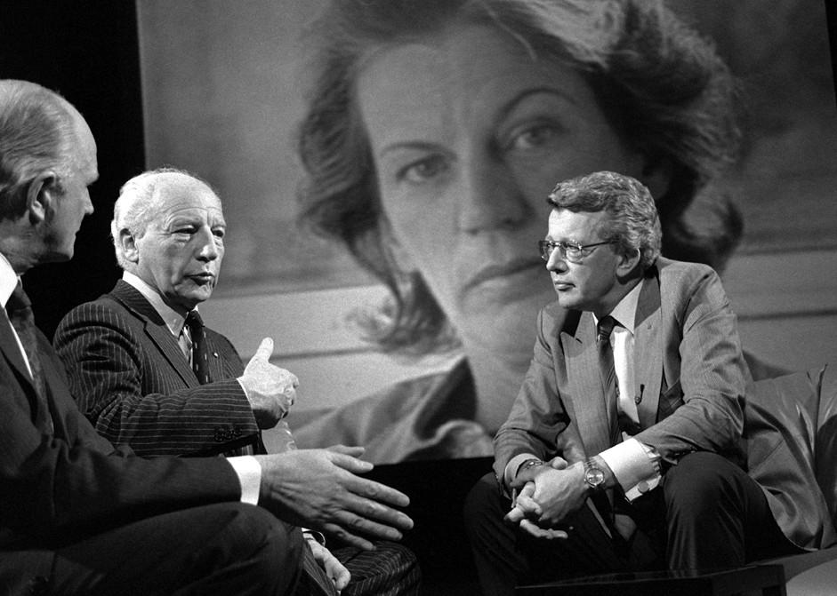 Dieter Thomas Heck_Walter Scheel_Mildred Scheel in ZDF-Sendung Erinnerungen in Musik nach Tod Mildred Scheel