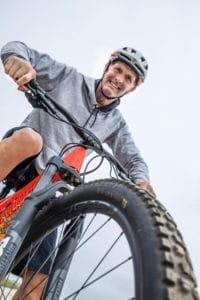 Ralf Schattke mit Mountainbike