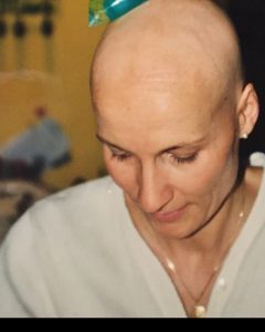Leben mit Brustkrebs Glatze
