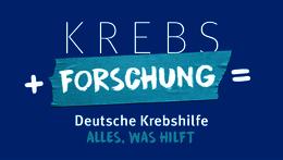 Krebs + Forschung = Deutsche Krebshilfe – Alles, was hilft.