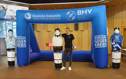 Dominik Klein, Geschäftsführer des BHV und Handball-Weltmeister von 2007, mit Event-Modul
