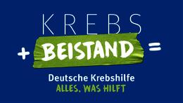 Krebs + Beistand = Deutsche Krebshilfe – Alles, was hilft.